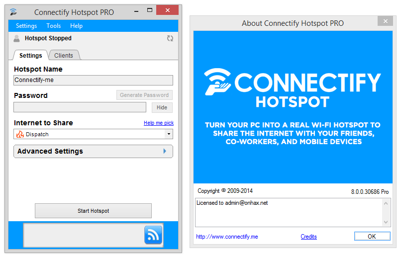 Connectify Hotspot Pro 2018 2 Crack Serial Key Free Download